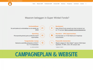 Emissie SuperWinkelFonds Website