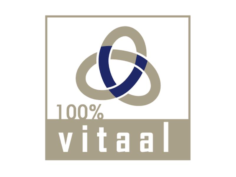 100% Vitaal FB logo licht