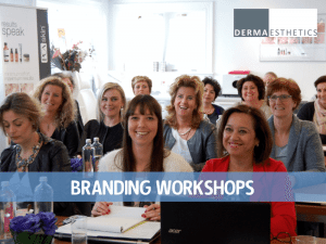 Branding Workshops Dermaesthetics