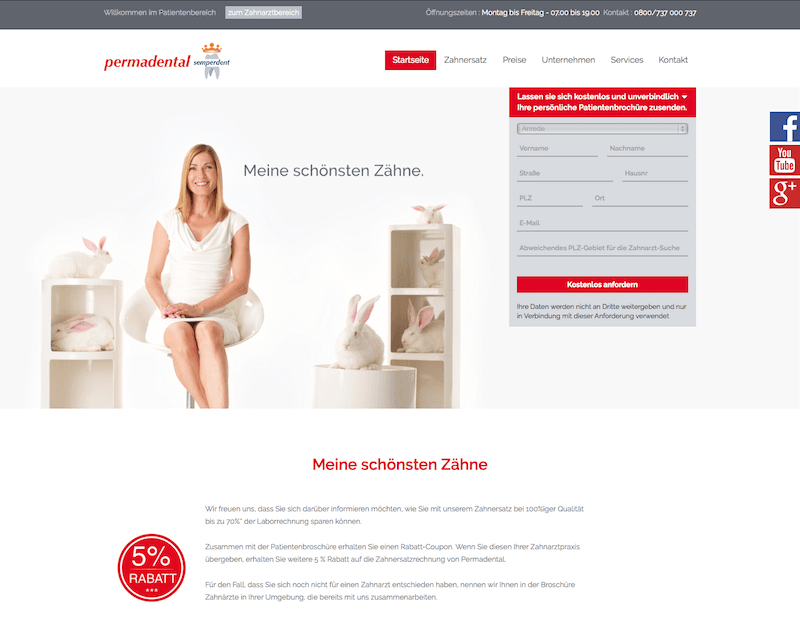 Patienten website Permadental