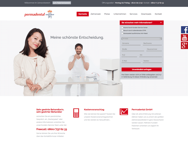 Tandartsenwebsite Permadental
