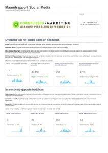 Rapportage social media marketing