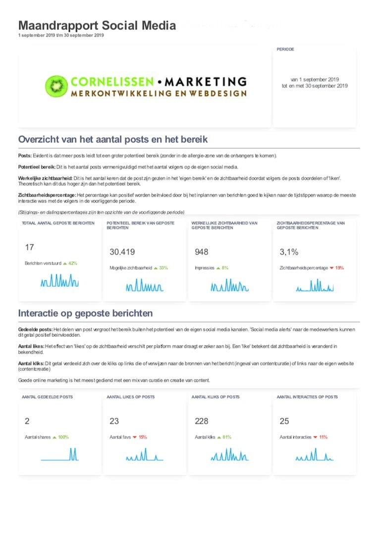 Rapportage social media marketing