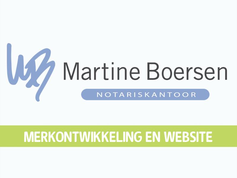 Merkontwikkeling en website Notariskantoor Boersen