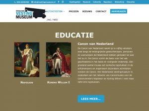 Nieuwe website Nederlands Vestingmuseum