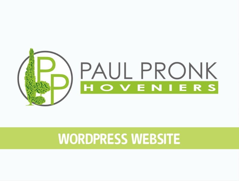Vervanging website PP Hoveniers